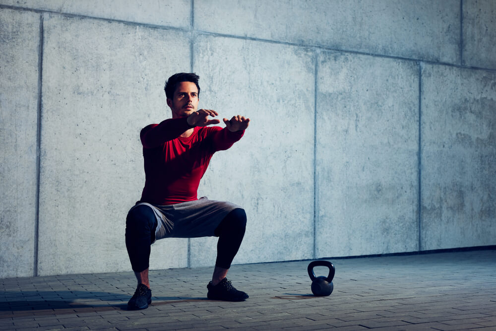 Cable Squats Targets Core